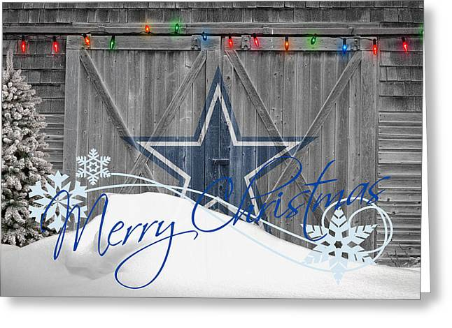 Christmas Greeting Photographs Greeting Cards - Dallas Cowboys Greeting Card by Joe Hamilton
