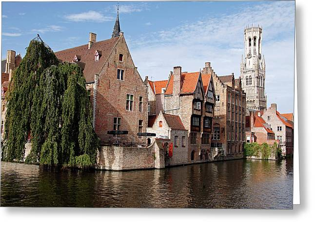 Europe, Belgium, Bruges Greeting Card by Kymri Wilt