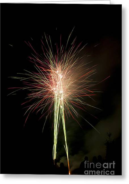 Red Greeting Cards - Fireworks Greeting Card by Mandy Judson