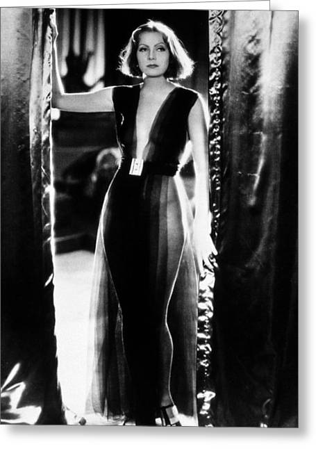 Greta Garbo Greeting Card by Silver Screen