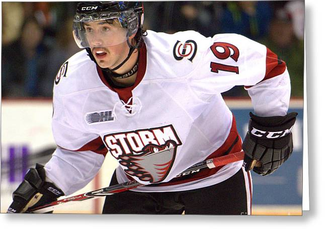 Ohl Greeting Cards - Guelph Storm Greeting Card by Rob Andrus