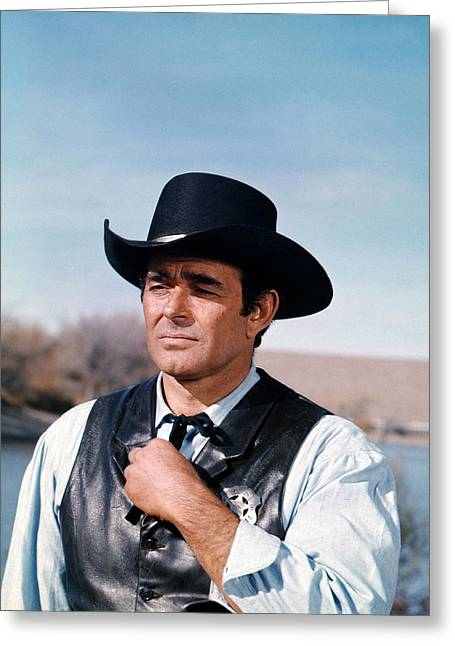 Garner Greeting Cards - James Garner Greeting Card by Silver Screen