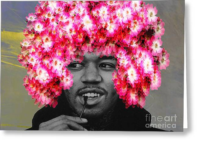 Psychedilic Greeting Cards - Jimi Hendrix Greeting Card by Marvin Blaine