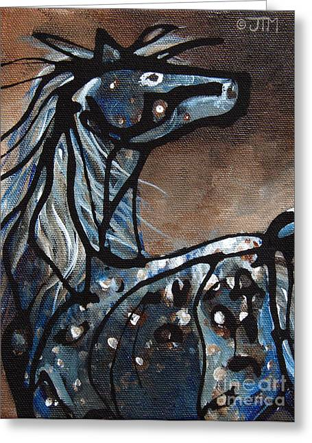 Appaloosa Greeting Cards - #14 June 5th Greeting Card by Jonelle T McCoy