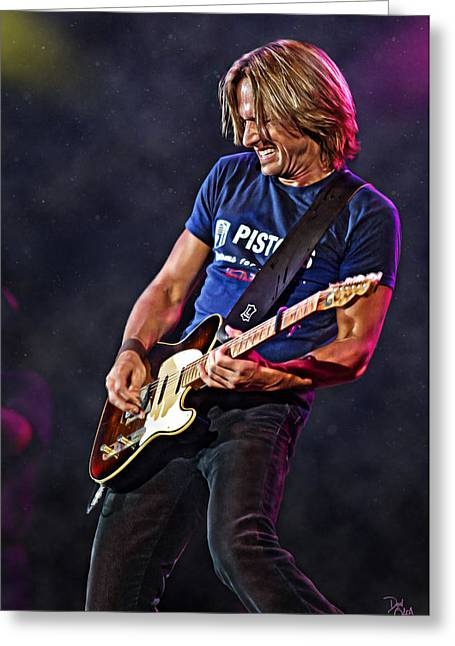 Brentwood Tennessee Greeting Cards - Keith Urban Greeting Card by Don Olea