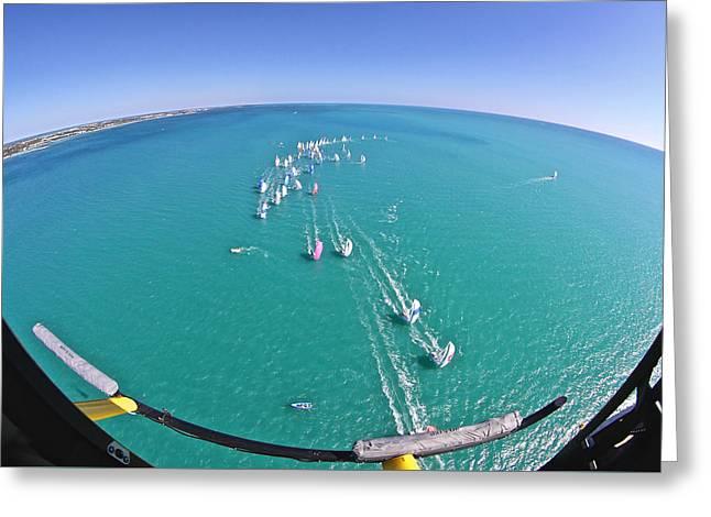 Key West Race Week Aerial Greeting Card by Steven Lapkin