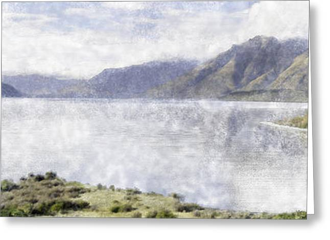 Daylight Pastels Greeting Cards - Lake Wakatipu Greeting Card by Tim Mulholland