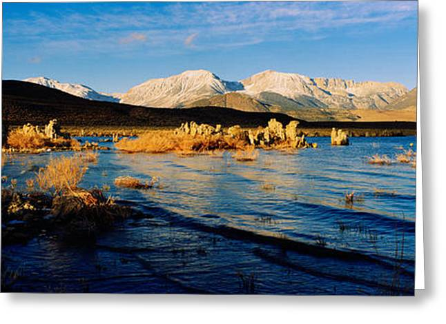 Californian Greeting Cards - Lake With Mountains In The Background Greeting Card by Panoramic Images