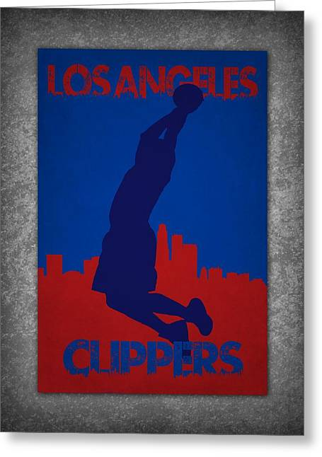 Los Angeles Clippers Greeting Cards - Los Angeles Clippers Greeting Card by Joe Hamilton