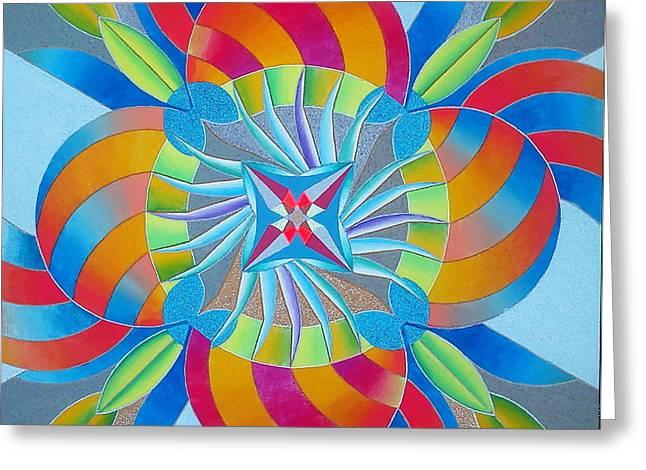 Mandala Greeting Card by Martin Zezula