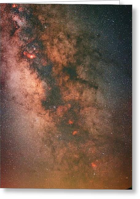 Milky Way Greeting Card by Babak Tafreshi