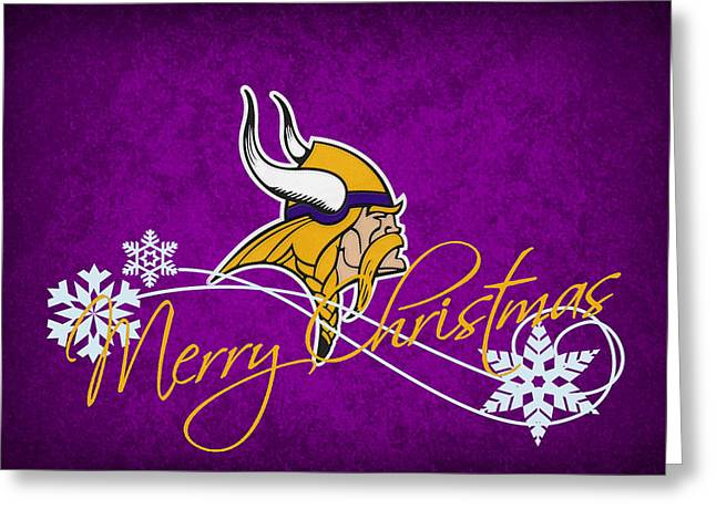 Vikings Greeting Cards - Minnesota Vikings Greeting Card by Joe Hamilton