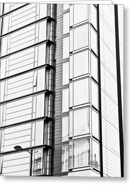 Glass Reflecting Greeting Cards - Modern building Greeting Card by Tom Gowanlock