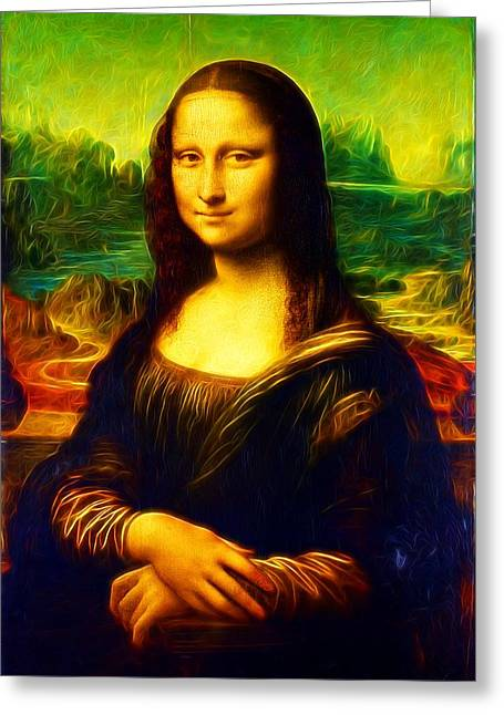 Mona Lisa Greeting Card by Leonardo da Vinci