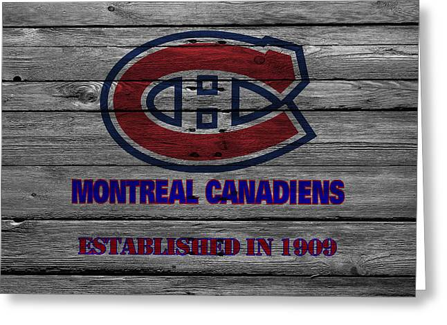 Barn Greeting Card Greeting Cards - Montreal Canadiens Greeting Card by Joe Hamilton