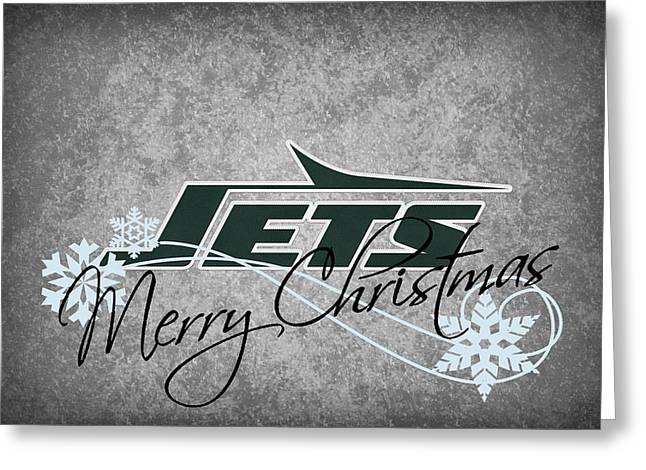 Presents Greeting Cards - New York Jets Greeting Card by Joe Hamilton