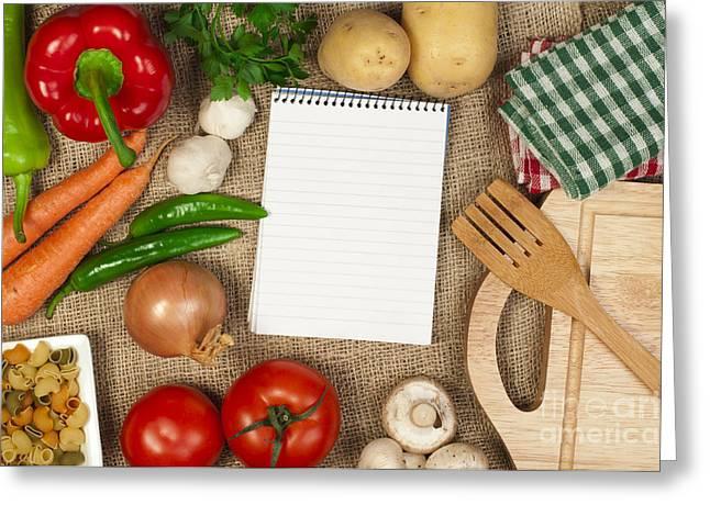 Menu Greeting Cards - Notebook to write recipes Greeting Card by Deyan Georgiev