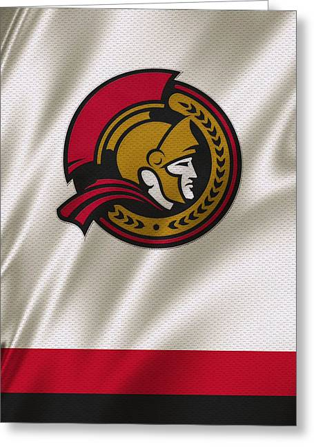Senators Greeting Cards - Ottawa Senators Greeting Card by Joe Hamilton