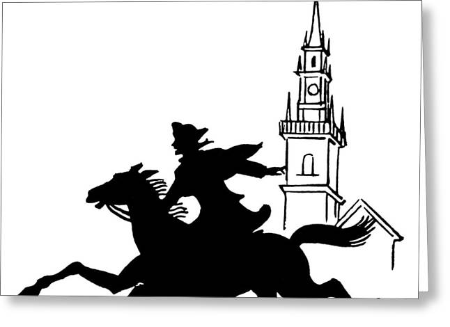 Old North Church Greeting Cards - Paul Reveres Ride Greeting Card by Granger
