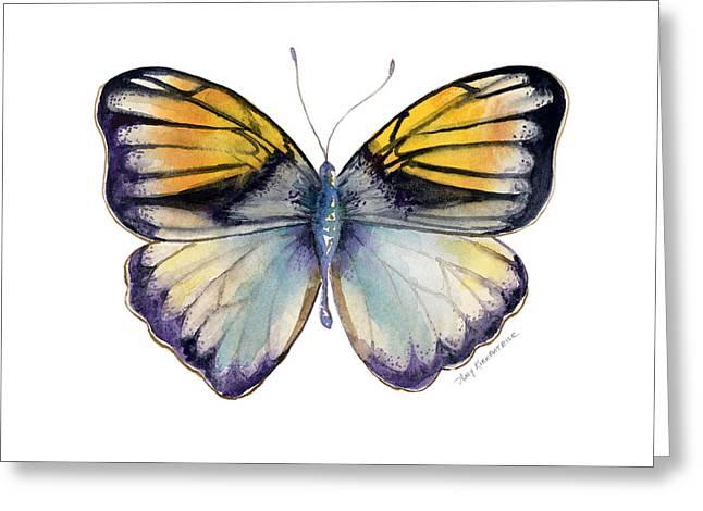 Butterflies Paintings Greeting Cards - 14 Pieridae Butterfly Greeting Card by Amy Kirkpatrick