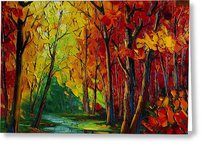Print On Canvas Greeting Cards - Autumn Landscape  Greeting Card by Willson Lau