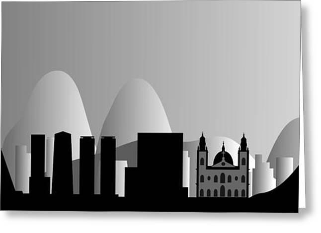 Jesus Greeting Cards - Rio de Janeiro skyline Greeting Card by Michal Boubin