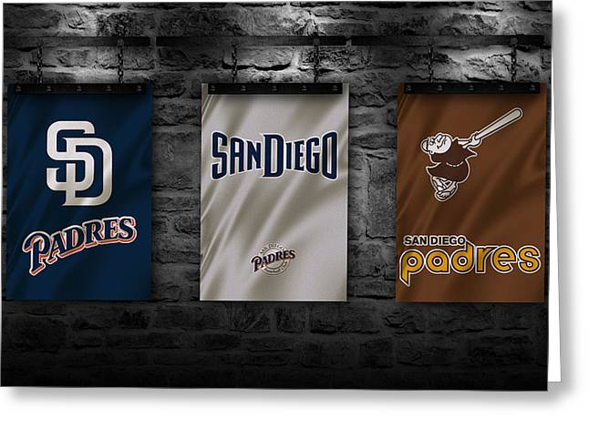 Padres Greeting Cards - San Diego Padres Greeting Card by Joe Hamilton
