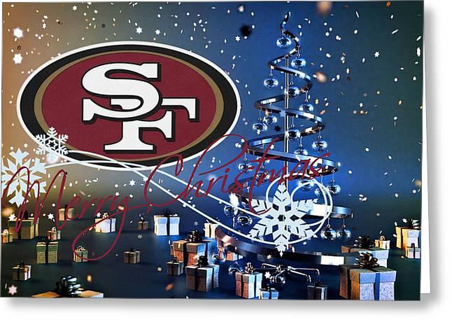 49ers Greeting Cards - San Francisco 49ers Greeting Card by Joe Hamilton