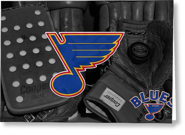 Greeting Cards Greeting Cards - St Louis Blues Greeting Card by Joe Hamilton