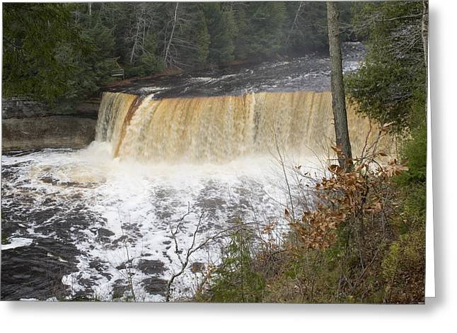 Fall Greeting Cards - Tahquamenon Falls Greeting Card by Gary Marx