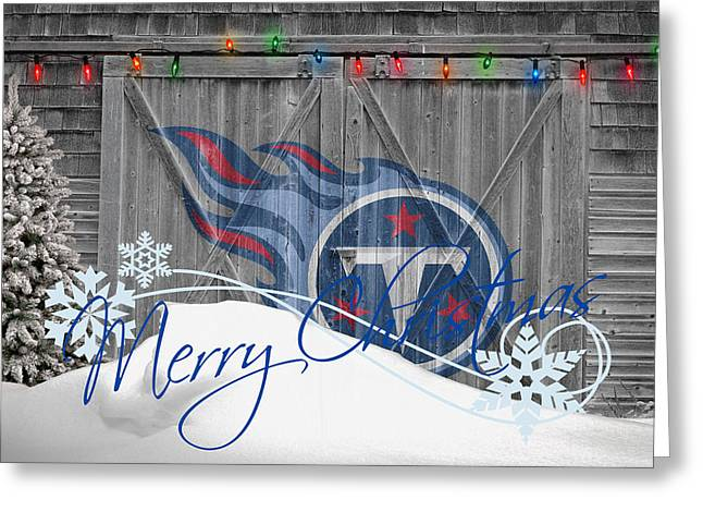 Snow Greeting Cards - Tennessee Titans Greeting Card by Joe Hamilton