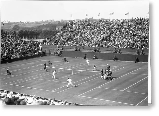 Competition Photographs Greeting Cards - The Davis Cup Greeting Card by Retro Images Archive