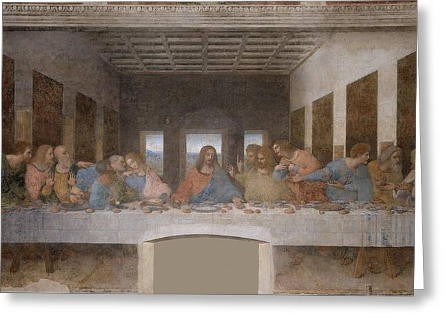 Child Jesus Greeting Cards - The Last Supper Greeting Card by Celestial Images