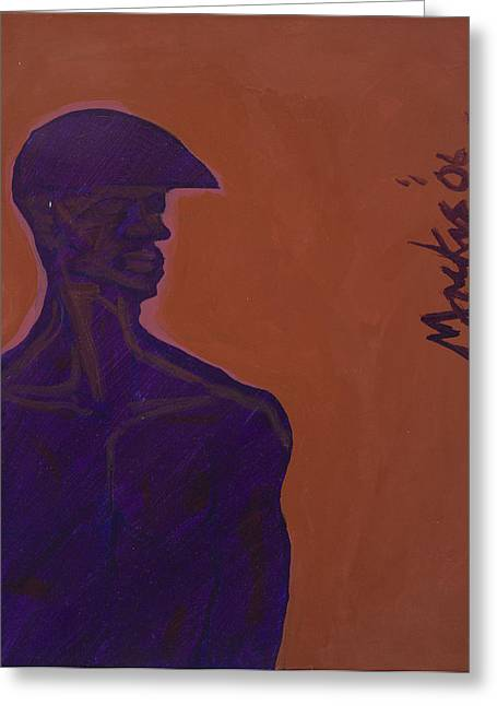 African-american Mixed Media Greeting Cards - Untitled Greeting Card by Deryl Daniel Mackie