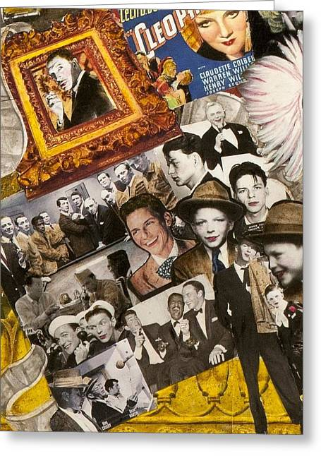 Gloria Mixed Media Greeting Cards - Frank Sinatra Vincent Price Greeting Card by Jonell Restivo