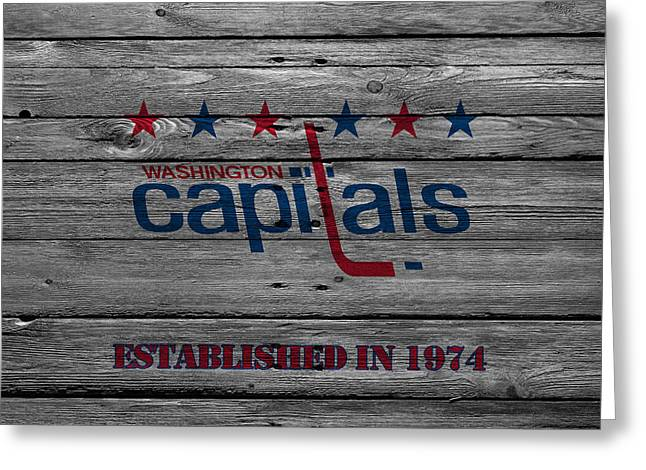 Playoff Greeting Cards - Washington Capitals Greeting Card by Joe Hamilton