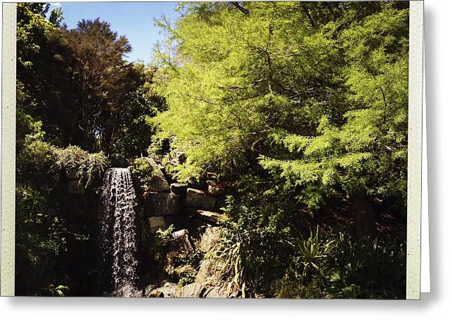 Fall Scenes Greeting Cards - Waterfall Greeting Card by Les Cunliffe