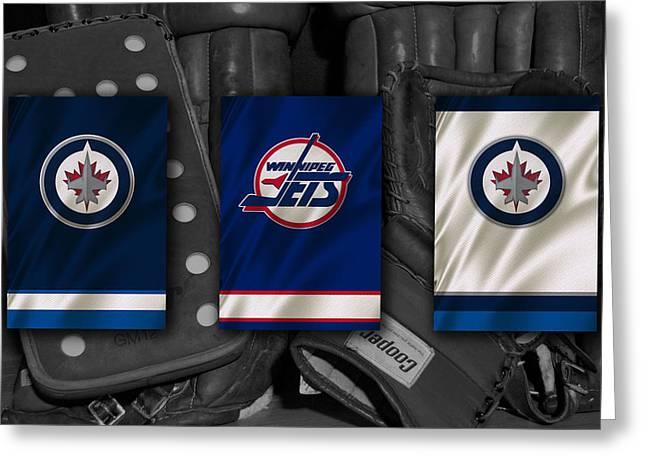 Winnipeg Jets Greeting Card by Joe Hamilton