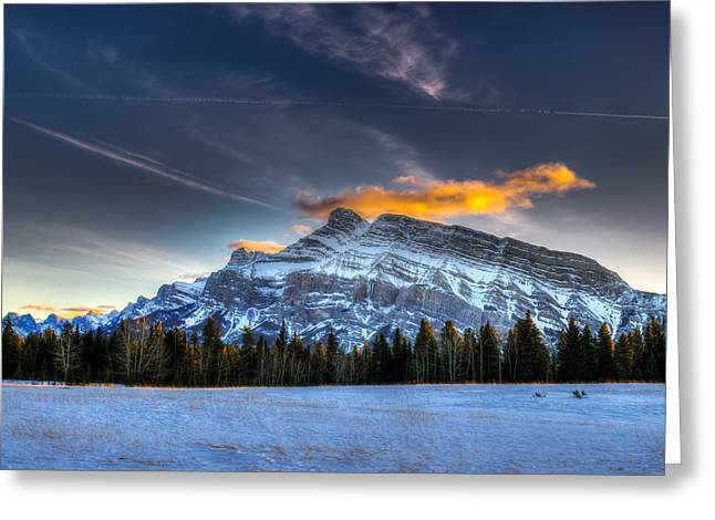 Brandon Smith Greeting Cards - Winter in the mountains Greeting Card by Brandon Smith
