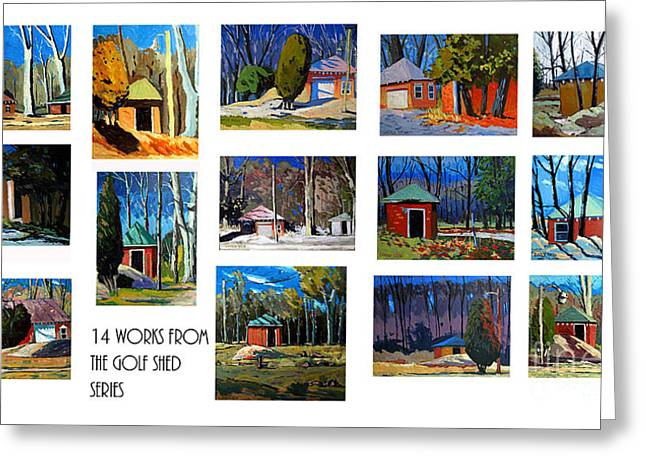 Outbuilding Greeting Cards - 14 WORKS from the Golf Shed Series Greeting Card by Charlie Spear