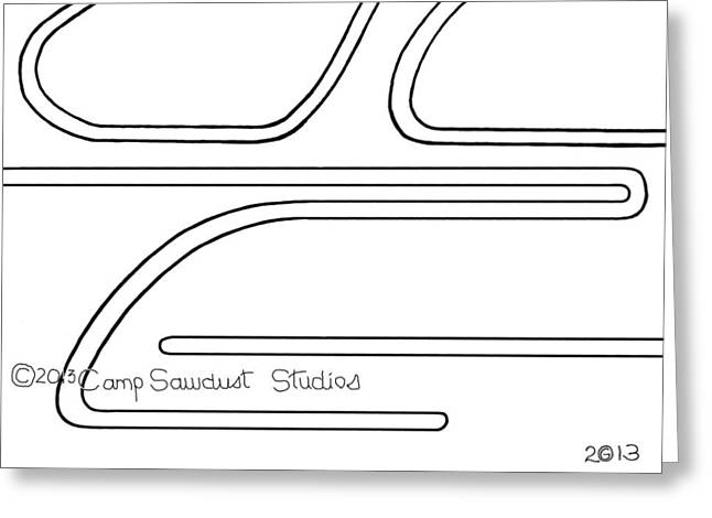 Square Format Drawings Greeting Cards - 140-LS Tat 64 Greeting Card by Gregory Otvos