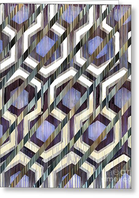 Geometric Tapestries - Textiles Greeting Cards - 14091216 Greeting Card by Sottosopra