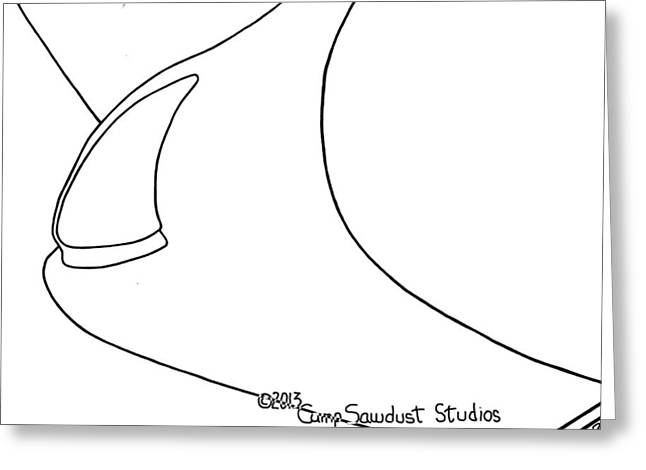 Square Format Drawings Greeting Cards - 142-LS Deco Light Greeting Card by Gregory Otvos