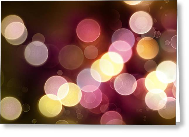 Purple. Colorful Greeting Cards - Abstract background Greeting Card by Les Cunliffe