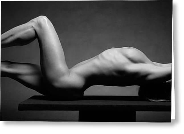 Female Body Greeting Cards - 1470 Powerful Nude Woman 1 to 3 Ratio Greeting Card by Chris Maher