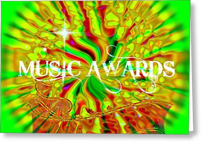 Award Digital Art Greeting Cards - Music Awards Greeting Card by Meiers Daniel