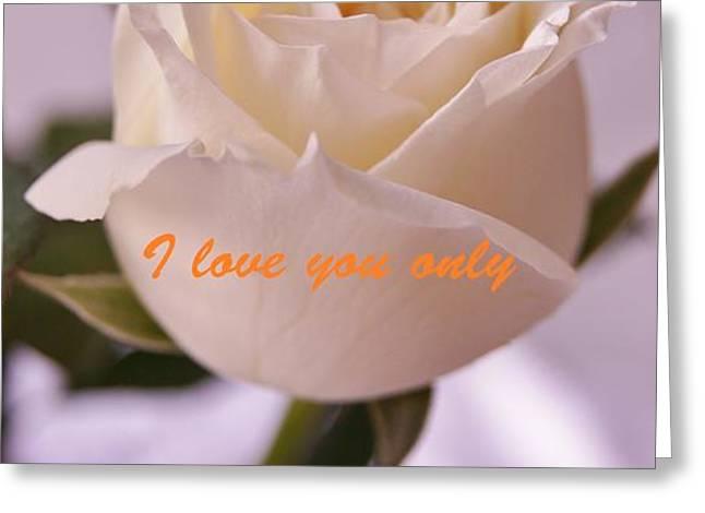 Rose for you Greeting Card by GORNGANOGPHATCHARA KALAPUN