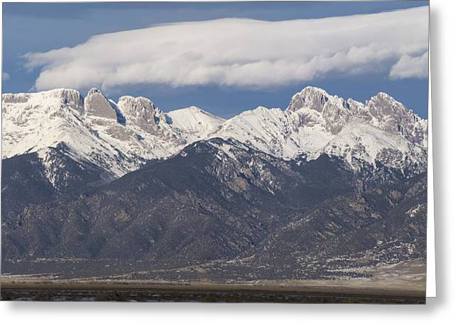 Taking Photographs Greeting Cards - 14er Panorama Greeting Card by Aaron Spong