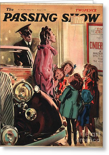 Autographed Drawings Greeting Cards - 1930s,uk,the Passing Show,magazine Cover Greeting Card by The Advertising Archives