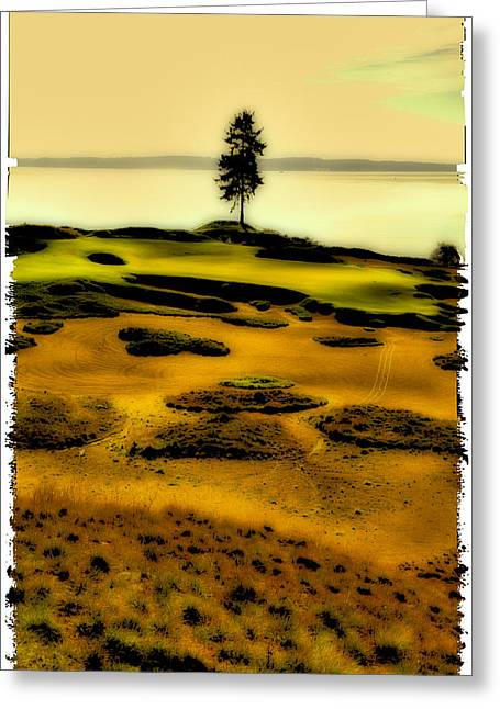 #15 At Chambers Bay - Location Of The 2015 Us Open Greeting Card by David Patterson
